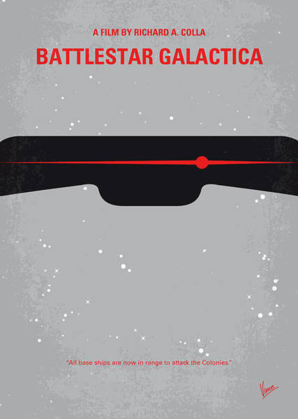 Wall Art - Digital Art - No663 My Battlestar Galactica Minimal Movie Poster by Chungkong Art