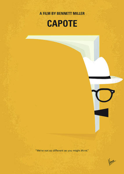 York Digital Art - No671 My Capote Minimal Movie Poster by Chungkong Art