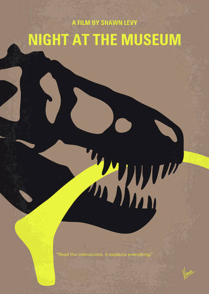 Roosevelt Island Wall Art - Digital Art - No672 My Night At The Museum Minimal Movie Poster by Chungkong Art