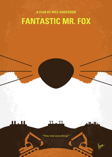 Foxes Digital Art - No673 My Fantastic Mr Fox Minimal Movie Poster by Chungkong Art