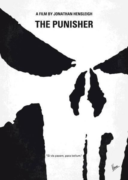 Wall Art - Digital Art - No676 My The Punisher Minimal Movie Poster by Chungkong Art