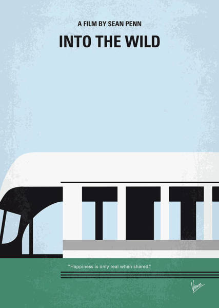 Wall Art - Digital Art - No677 My Into The Wild Minimal Movie Poster by Chungkong Art