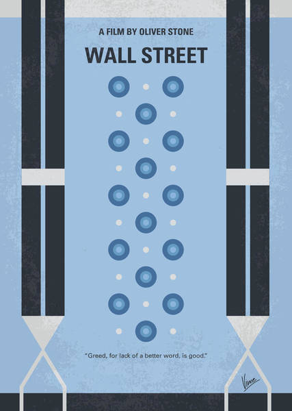 Streets Digital Art - No683 My Wall Street Minimal Movie Poster by Chungkong Art