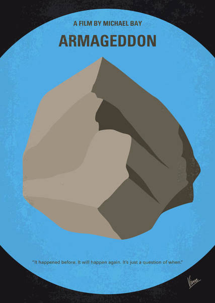 Wall Art - Digital Art - No695 My Armageddon Minimal Movie Poster by Chungkong Art