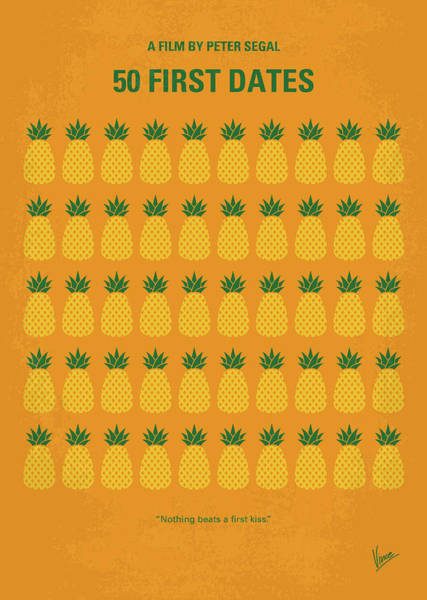 Pineapples Digital Art - No696 My 50 First Dates Minimal Movie by Chungkong Art