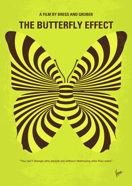 Effect Digital Art - No697 My The Butterfly Effect Minimal Movie Poster by Chungkong Art
