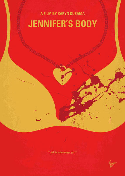 Foxes Digital Art - No698 My Jennifers Body Minimal Movie Poster by Chungkong Art