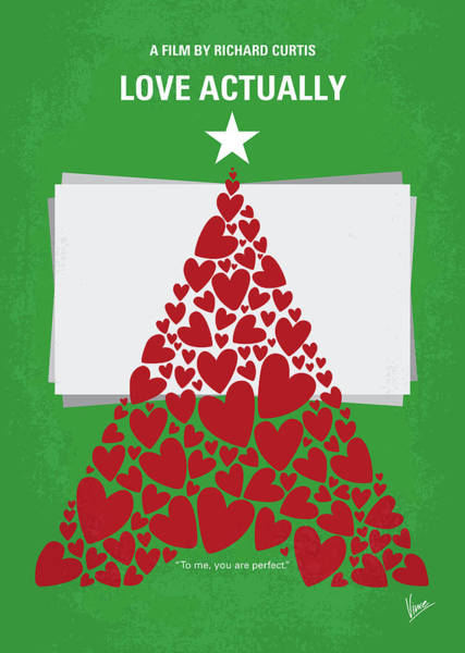 Grant Wall Art - Digital Art - No701 My Love Actually Minimal Movie Poster by Chungkong Art