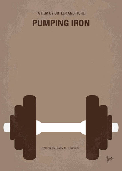 No707 My Pumping Iron Minimal Movie Poster Art Print