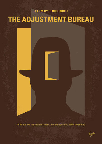 Election Wall Art - Digital Art - No710 My The Adjustment Bureau Minimal Movie Poster by Chungkong Art