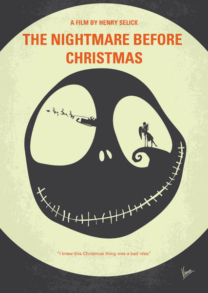Wall Art - Digital Art - No712 My The Nightmare Before Christmas Minimal Movie Poster by Chungkong Art