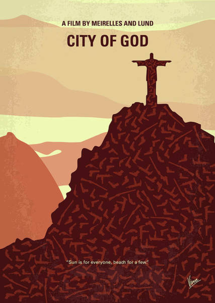 60s Digital Art - No716 My City Of God Minimal Movie Poster by Chungkong Art