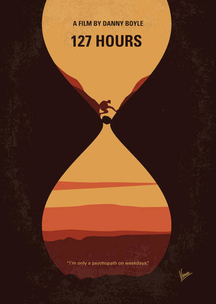 Climber Digital Art - No719 My 127 Hours Minimal Movie Poster by Chungkong Art