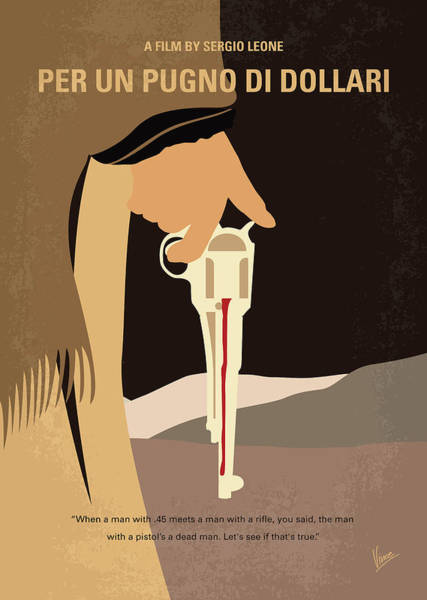 Wall Art - Digital Art - No721 My A Fistful Of Dollars Minimal Movie Poster by Chungkong Art