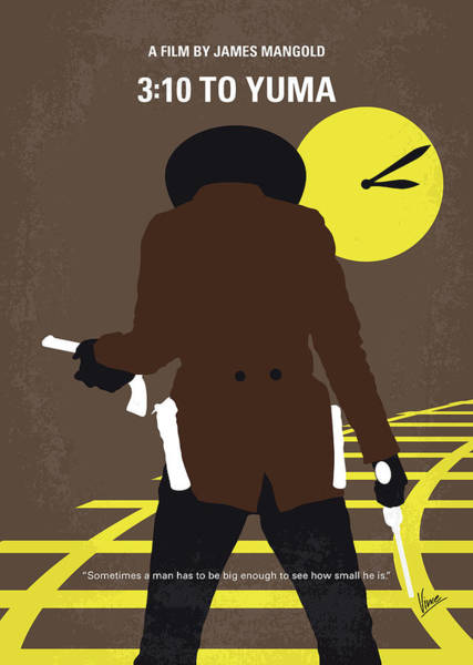 Wall Art - Digital Art - No726 My 310 To Yuma Minimal Movie Poster by Chungkong Art