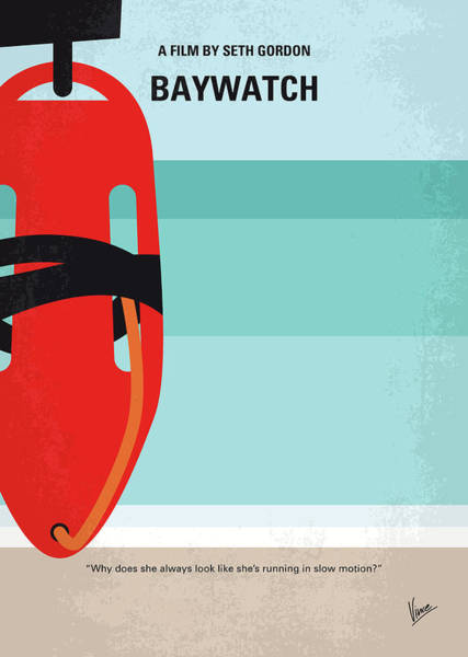 California Beaches Digital Art - No730 My Baywatch Minimal Movie Poster by Chungkong Art