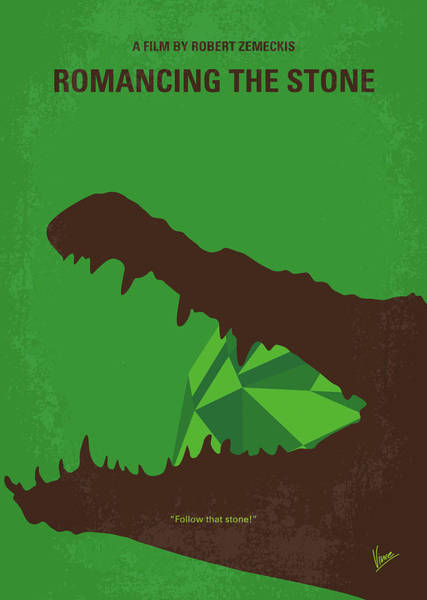 Stone Wall Wall Art - Digital Art - No732 My Romancing The Stone Minimal Movie Poster by Chungkong Art