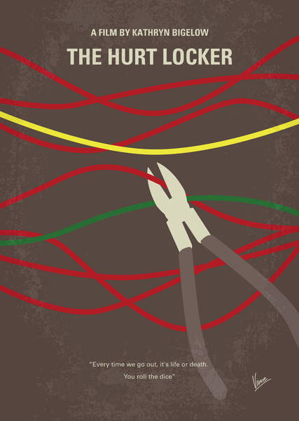 No746 My The Hurt Locker Minimal Movie Poster Art Print