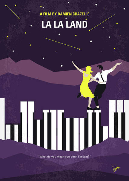 Wall Art - Digital Art - No756 My La La Land Minimal Movie Poster by Chungkong Art