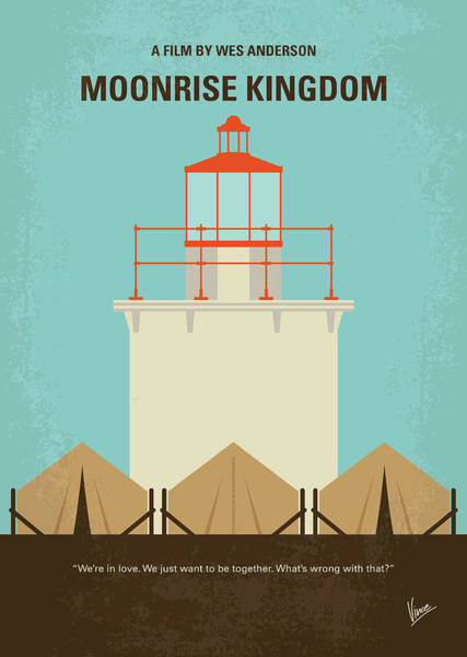 England Digital Art - No760 My Moonrise Kingdom Minimal Movie Poster by Chungkong Art