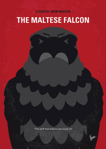 Wall Art - Digital Art - No780 My The Maltese Falcon Minimal Movie Poster by Chungkong Art