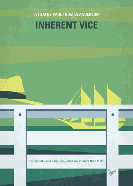 Golden Digital Art - No793 My Inherent Vice Minimal Movie Poster by Chungkong Art