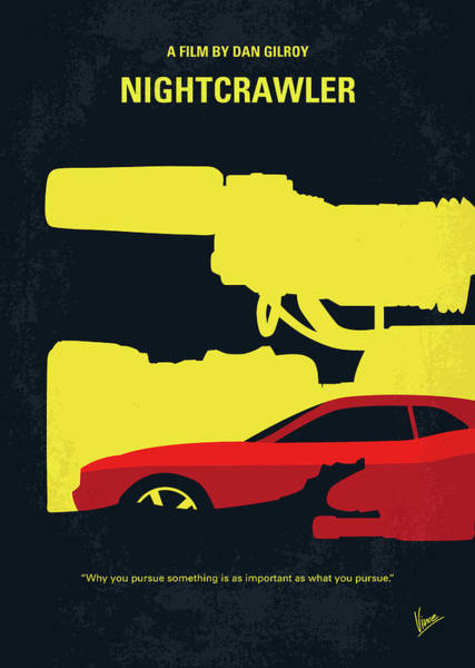 Journalism Wall Art - Digital Art - No794 My Nightcrawler Minimal Movie Poster by Chungkong Art