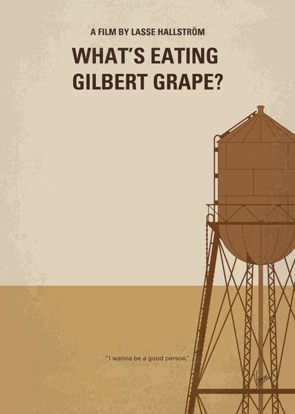 What Digital Art - No795 My Whats Eating Gilbert Grape Minimal Movie Poster by Chungkong Art