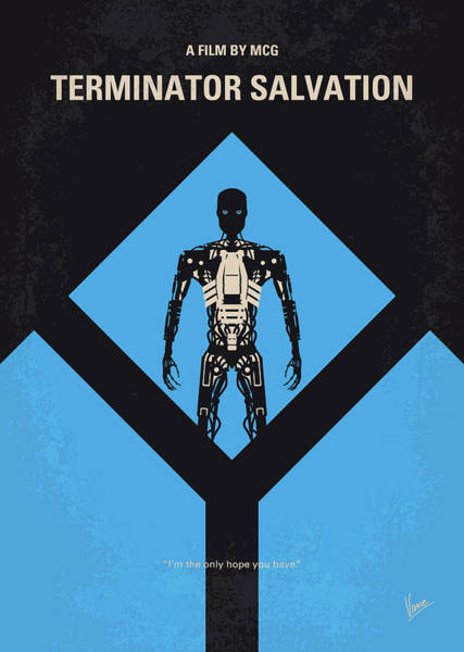 Wall Art - Digital Art - No802-4 My The Terminator 4 Minimal Movie Poster by Chungkong Art