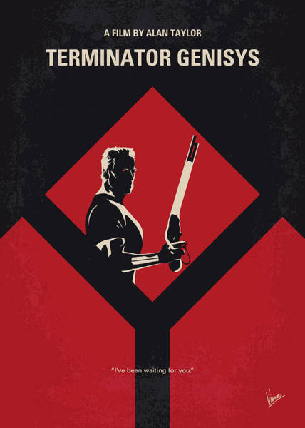Wall Art - Digital Art - No802-5 My The Terminator 5 Minimal Movie Poster by Chungkong Art