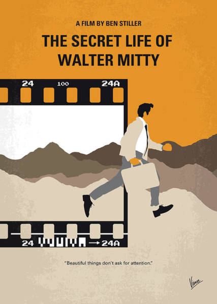 Wall Art - Digital Art - No806 My The Secret Life Of Walter Mitty Minimal Movie Poster by Chungkong Art