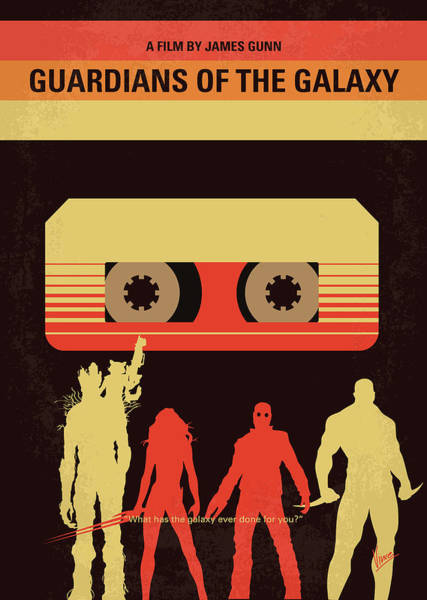 Earth Digital Art - No812 My Guardians Of The Galaxy Minimal Movie Poster by Chungkong Art