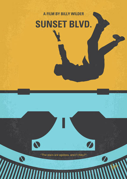 Wall Art - Digital Art - No813 My Sunset Blvd Minimal Movie Poster by Chungkong Art