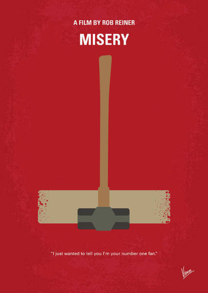 Wall Art - Digital Art - No814 My Misery Minimal Movie Poster by Chungkong Art