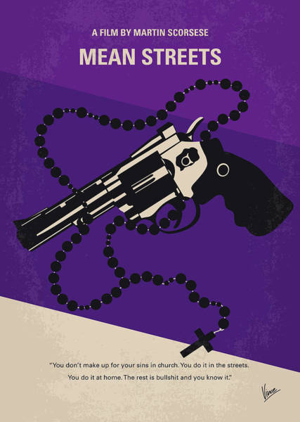 Wall Art - Digital Art - No823 My Mean Streets Minimal Movie Poster by Chungkong Art