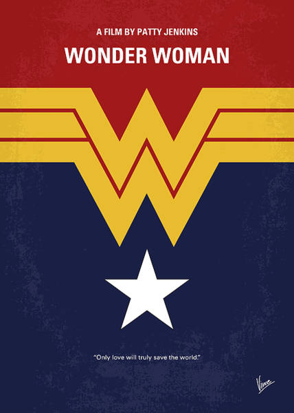 Wall Art - Digital Art - No825 My Wonder Woman Minimal Movie Poster by Chungkong Art