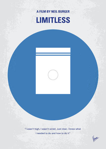 No828 My Limitless Minimal Movie Poster Art Print