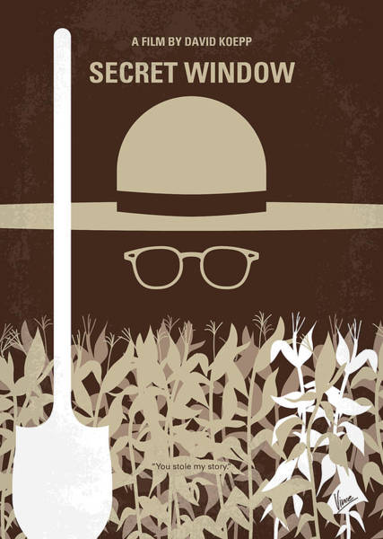 Manuscript Wall Art - Digital Art - No830 My Secret Window Minimal Movie Poster by Chungkong Art