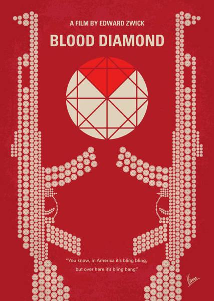 Wall Art - Digital Art - No833 My Blood Diamond Minimal Movie Poster by Chungkong Art