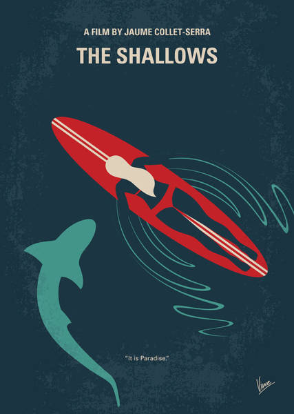 Surfer Digital Art - No836 My The Shallows Minimal Movie Poster by Chungkong Art