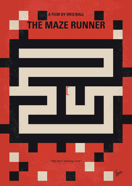 Wall Art - Digital Art - No837 My The Maze Runner Minimal Movie Poster by Chungkong Art