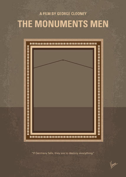 Museum Digital Art - No845 My The Monuments Men Minimal Movie Poster by Chungkong Art