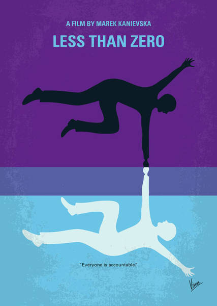 Wall Art - Digital Art - No848 My Less Than Zero Minimal Movie Poster by Chungkong Art
