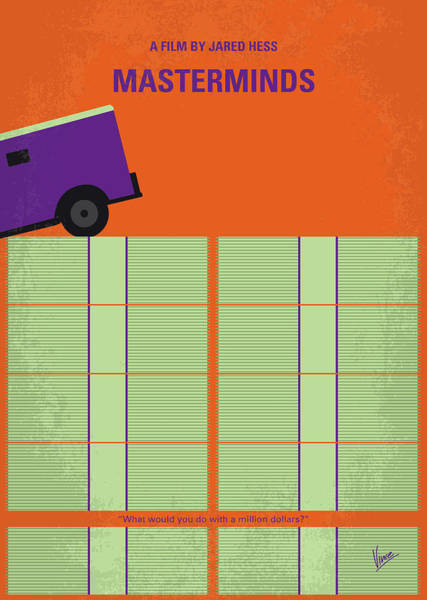 Wall Art - Digital Art - No851 My Masterminds Minimal Movie Poster by Chungkong Art