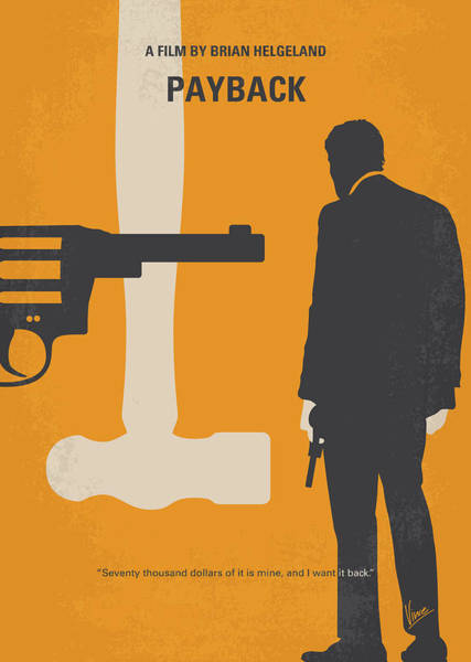 Rosie Wall Art - Digital Art - No854 My Payback Minimal Movie Poster by Chungkong Art