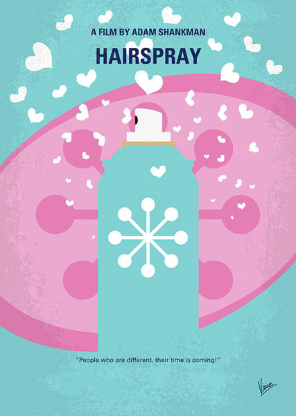60s Digital Art - No856 My Hairspray Minimal Movie Poster by Chungkong Art