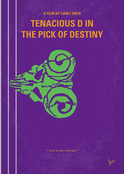 Museum Digital Art - No863 My The Pick Of Destiny Minimal Movie Poster by Chungkong Art