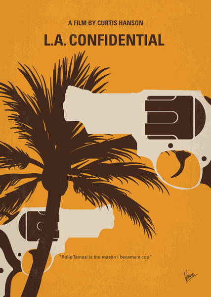 California Digital Art - No866 My La Confidential Minimal Movie Poster by Chungkong Art