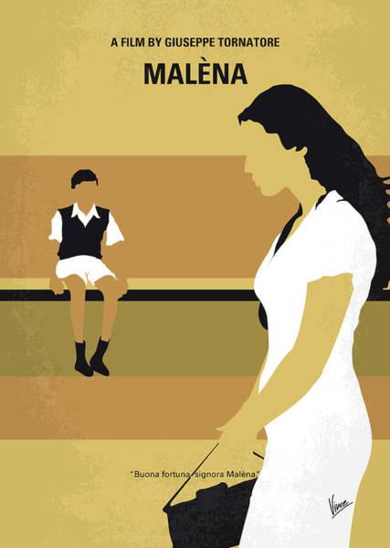 Lust Wall Art - Digital Art - No870 My Malena Minimal Movie Poster by Chungkong Art
