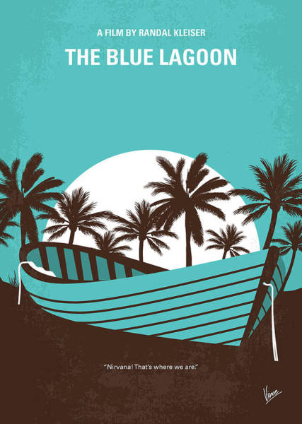 Wall Art - Digital Art - No871 My The Blue Lagoon Minimal Movie Poster by Chungkong Art